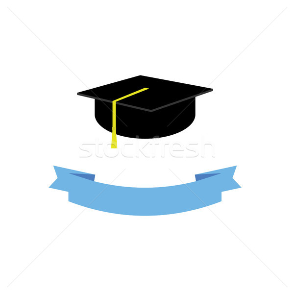 Graduate hat concept. Graduation from university with ribbon Stock photo © user_11397493