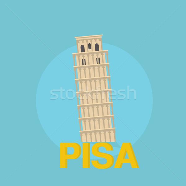 Kule dizayn seyahat yolculuk inşaat Stok fotoğraf © user_11397493