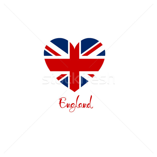 Britain england united kingdom flag heart shape Stock photo © user_11397493