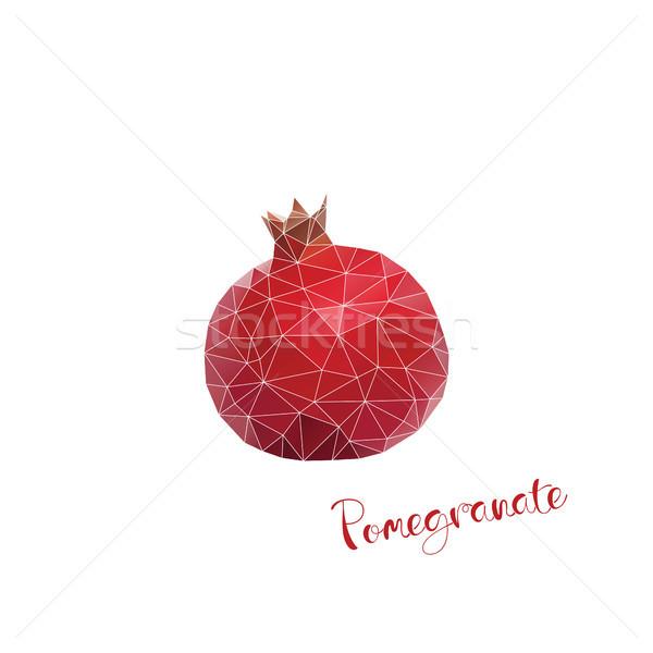 赤 フルーツ 低い 色 自然 孤立した ストックフォト © user_11397493