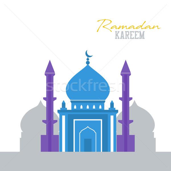 Islamic mosque flat design religious Stock photo © user_11397493