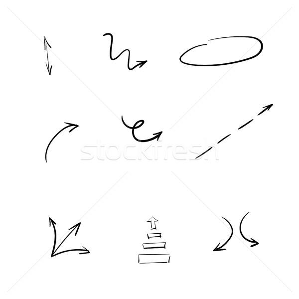 Foto d'archivio: Frecce · isolato · mano · abstract · design