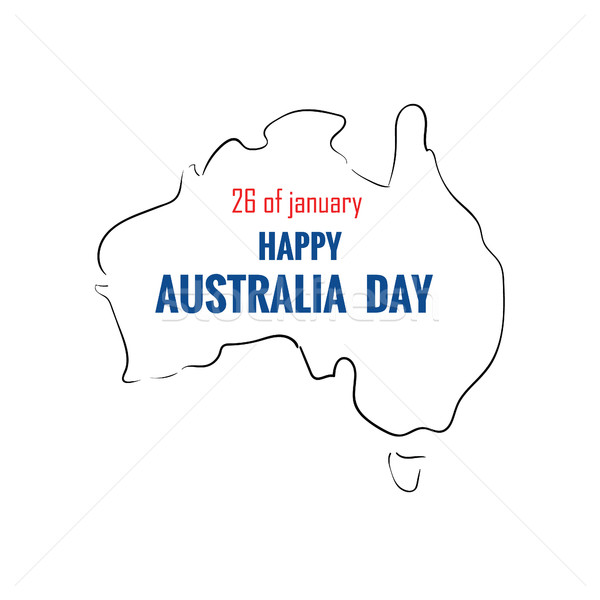 Happy australia day Stock photo © user_11397493