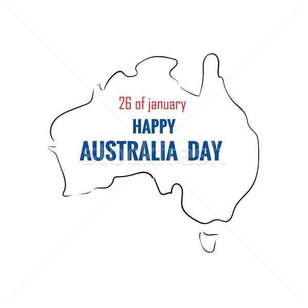 幸せ 日 地図 文字 デザイン ポスター ストックフォト © user_11397493
