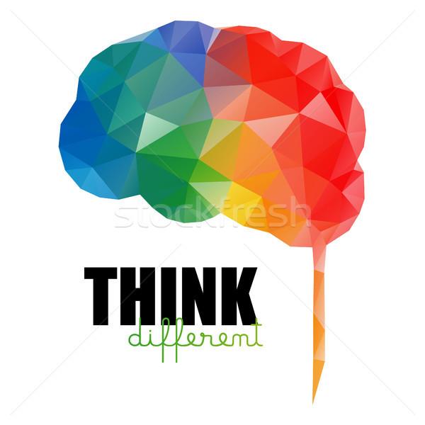 と思います 異なる 低い カラフル 脳 孤立した ストックフォト © user_11397493