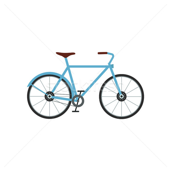 City bicycle vector illustration. Sport activity. Urban bicycle flat Stock photo © user_11397493