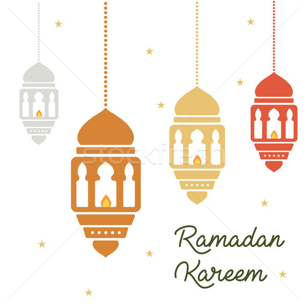 Ramadan concept. Ramadan kareen lanterns holiday Stock photo © user_11397493