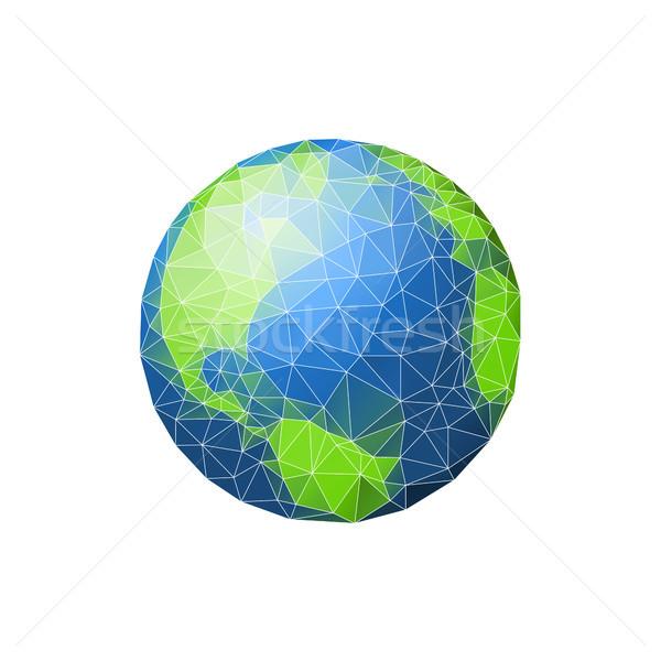 地球 低い 惑星 緑 海 孤立した ストックフォト © user_11397493