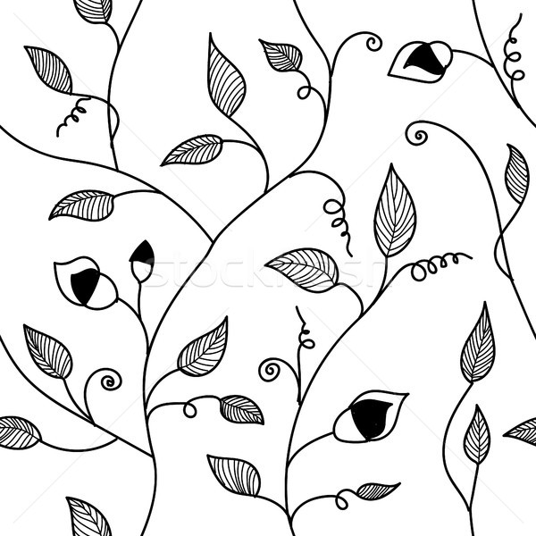 Vintage hand drawn seamless pattern. Stock photo © user_11397493
