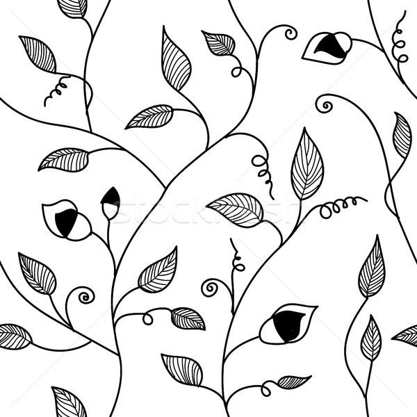 ヴィンテージ 手描き 葉 飾り 春 ストックフォト © user_11397493