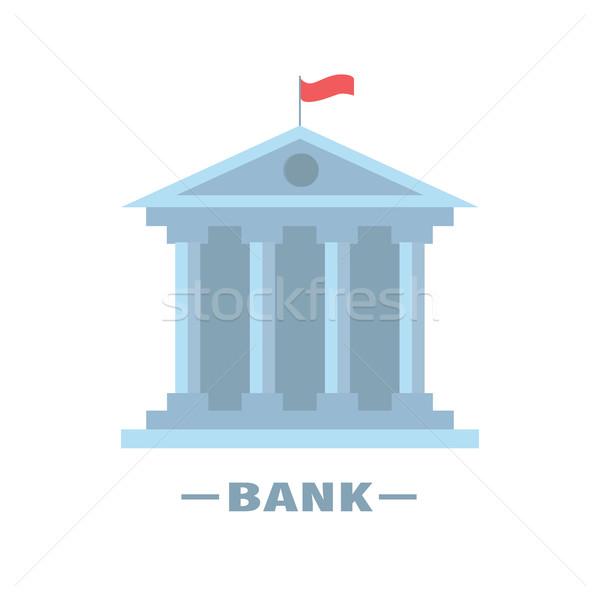 Banca costruzione isolato design carta contanti Foto d'archivio © user_11397493