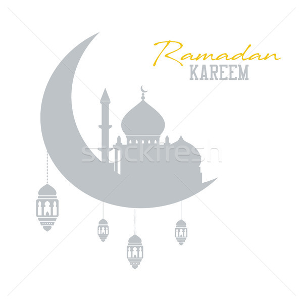 Ramadan kareem concept. Shadow of muslim mosque with lanterns. Islam celebration Stock photo © user_11397493