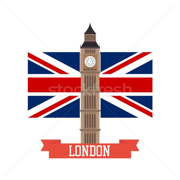 Grande design Inghilterra bandiera isolato costruzione Foto d'archivio © user_11397493