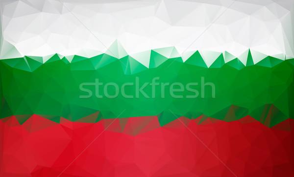 Bandiera basso bianco verde rosso texture Foto d'archivio © user_11397493