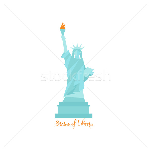 Statua libertà america design isolato costruzione Foto d'archivio © user_11397493