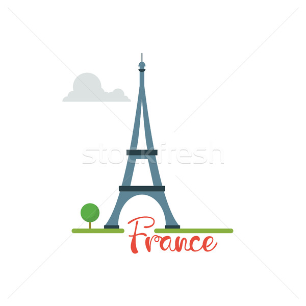 France concept. Eiffel tower with text travel vacation concept Stock photo © user_11397493