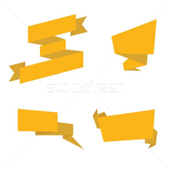 Foto d'archivio: Oro · nastri · isolato · raccolta · giallo · modello