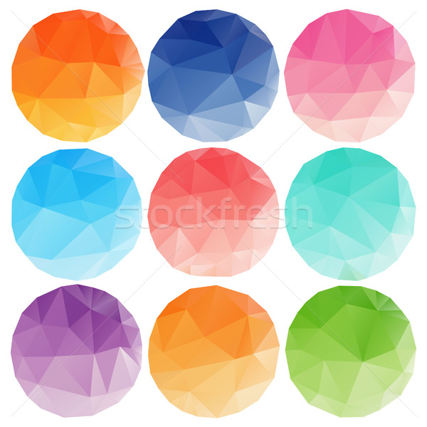 低い サークル 異なる 色 孤立した 抽象的な ストックフォト © user_11397493