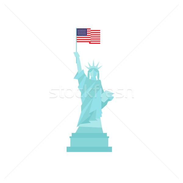 Heykel özgürlük Amerika bayrak dizayn yalıtılmış Stok fotoğraf © user_11397493