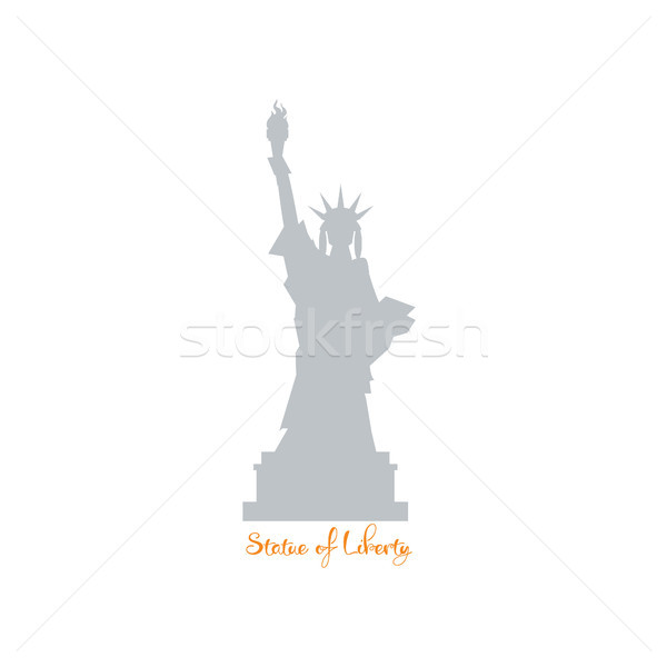 Statue of liberty silhouette. Independence concept Stock photo © user_11397493