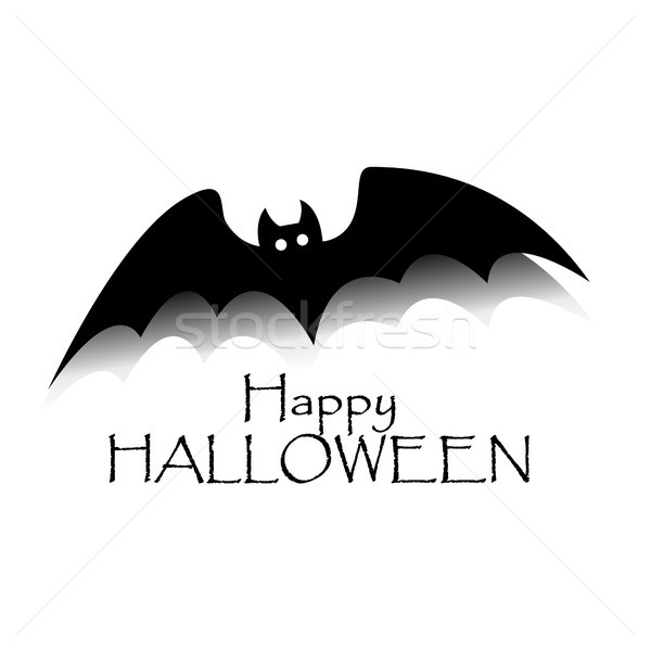Happy halloween concept. Black bat with text. Party scary banner Stock photo © user_11397493