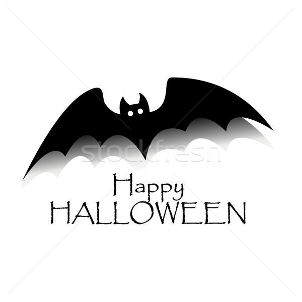 幸せ ハロウィン 黒 バット 文字 パーティ ストックフォト © user_11397493