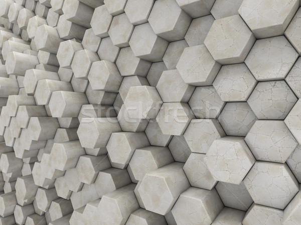 Abstrato mármore geométrico 3d render 3D Foto stock © user_11870380