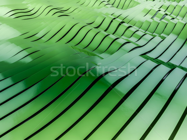 Stock photo: Abstract swirly colorful shape background. 3D