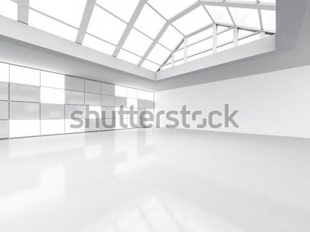 Abstract moderne architectuur lege Open ruimte interieur Stockfoto © user_11870380