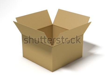 картона пакет окна 3D Сток-фото © user_11870380