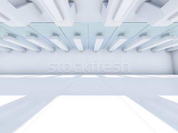 空っぽ 白 インテリア 3D レンダリング デザイン ストックフォト © user_11870380