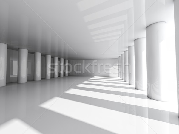 Stockfoto: Abstract · moderne · architectuur · lege · witte · Open · ruimte