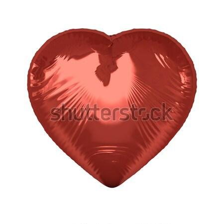 сердце красный шаре 3D романтические Сток-фото © user_11870380