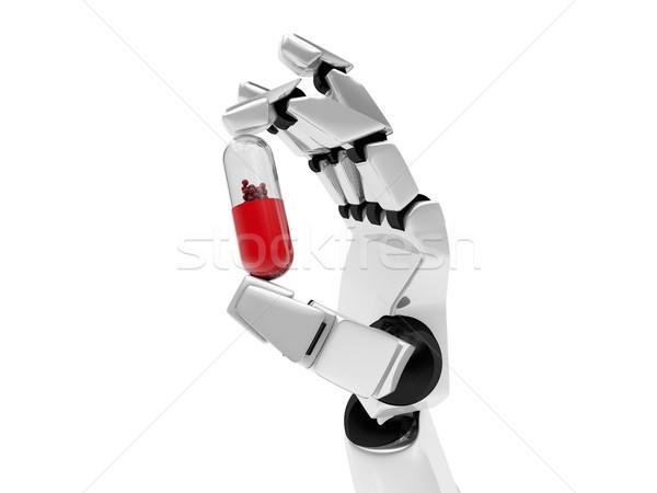 Photo stock: Robotique · mécanique · bras · drogue · 3D