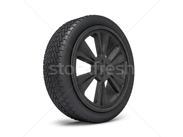 Wheels with blackened rim. 3D rendering Stock photo © user_11870380