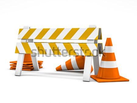 Bouw illustratie 3D straat snelweg Stockfoto © user_11870380