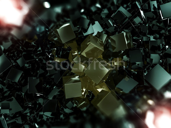 Abstract vierkante donkere 3D licht Stockfoto © user_11870380