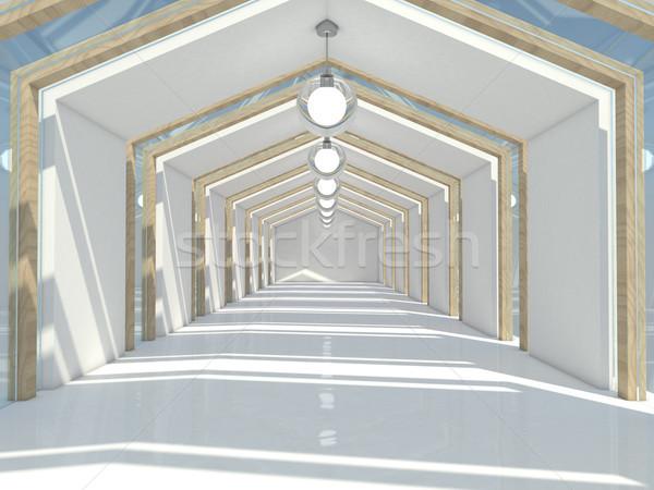 Stockfoto: Abstract · moderne · architectuur · lege · witte · Open · ruimte