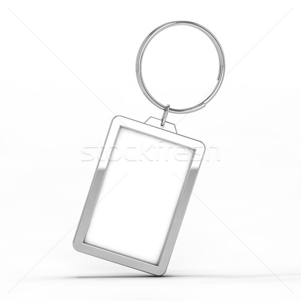 Blank metal keychain. Mockup Stock photo © user_11870380