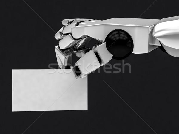 Photo stock: Robotique · mécanique · bras · carte · de · visite · 3D
