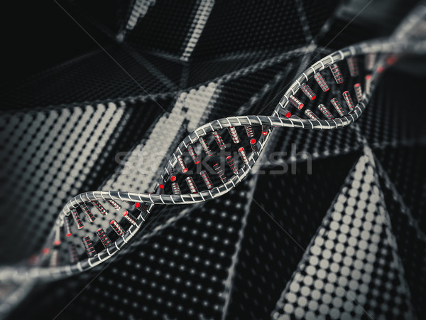 Abstract science background with DNA strands. 3D Stock photo © user_11870380