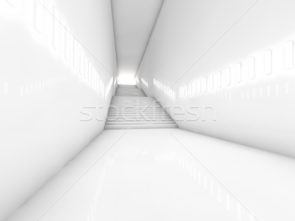 Architectural concept with stairs. 3D Stock photo © user_11870380