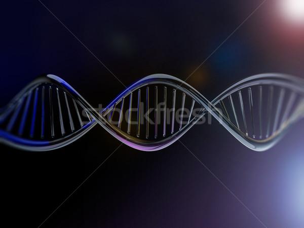 Digitális illusztráció DNS modell 3D renderelt kép absztrakt Stock fotó © user_11870380