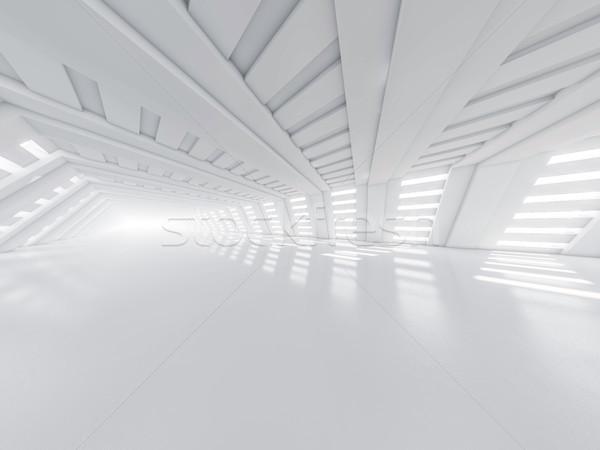 Abstrato arquitetura moderna vazio branco abrir espaço Foto stock © user_11870380