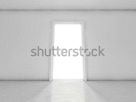 Open deur kamer licht 3D huis Stockfoto © user_11870380