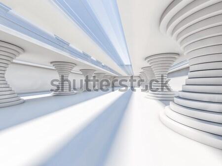 аннотация Современная архитектура 3D пусто открытых Сток-фото © user_11870380