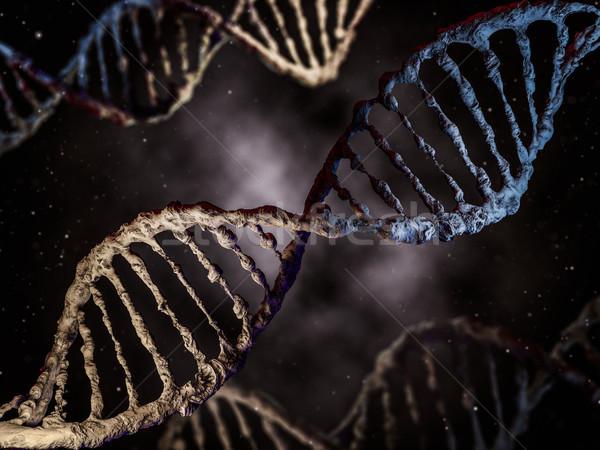 Цифровая иллюстрация ДНК модель 3D аннотация Сток-фото © user_11870380