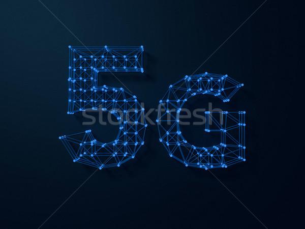 символ темно цифровой 3D интернет Сток-фото © user_11870380