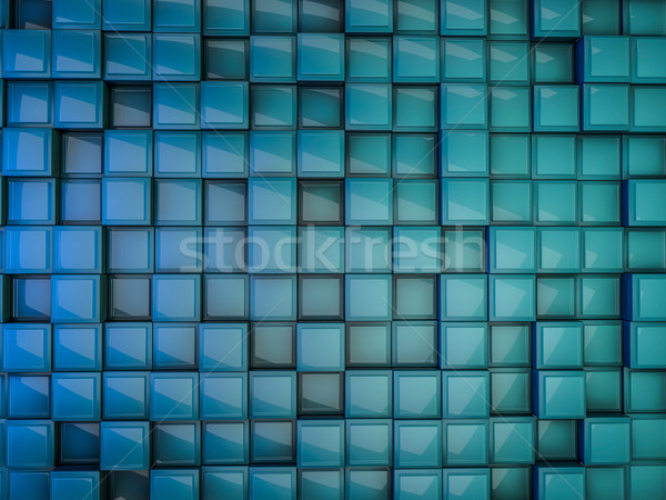 Cube abstract background. 3D Stock photo © user_11870380