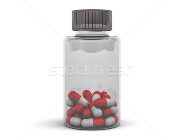 банку капсулы 3D медицинской Сток-фото © user_11870380